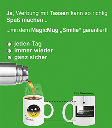 Tasse bedrucken lassen, Zaubertasse, Magic Mug, bedruckte-tasse